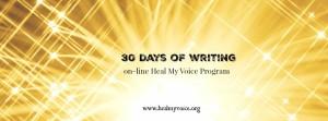 30 days of writing January